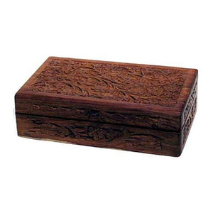 "5"" X 8"" Handcrafted Box W Floral Design - Nakhti By Kali J.N.S"