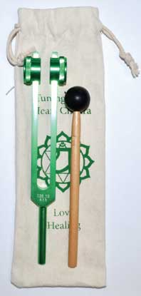 "8 1-2"" Heart (green) Tuning Fork - Nakhti By Kali J.N.S"