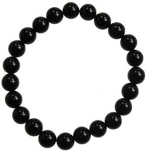 8mm Black Onyx (natural Agate Dyed) Bracelet - Nakhti By Kali J.N.S
