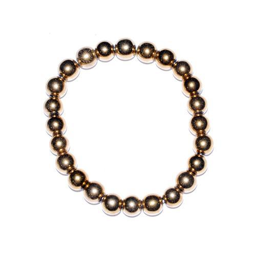 8mm Gold Plated Hematite Bracelet - Nakhti By Kali J.N.S