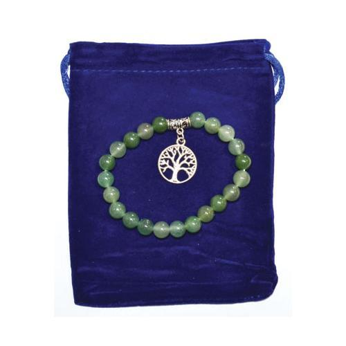 8mm Green Aventurine & Tree Of Life Bracelet - Nakhti By Kali J.N.S