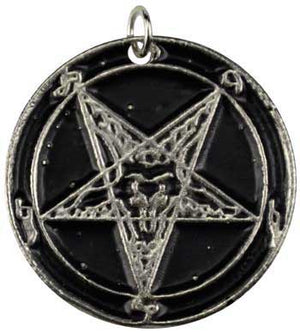 Goat Head Star Amulet