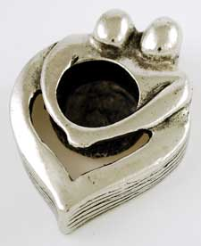 Couple's Heart Mini Candle Holder