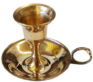 Brass Chambersticktaper Candle Holder