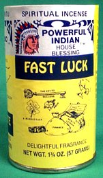 Fast Luck Powder Incense 1 3-4 Oz