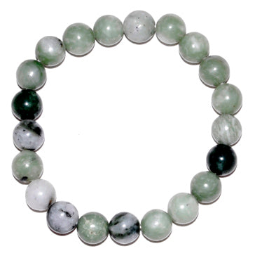 8mm Green Jade Bracelet
