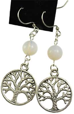Opalite Tree Of Life Earrings