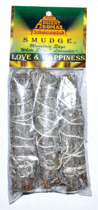 Love & Happiness Smudge Stick 3pk 4""