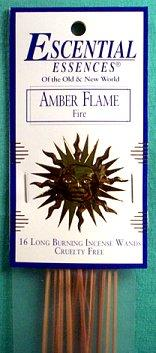 Amber Flame Escential Essences Incense Sticks 16 Pack - Nakhti By Kali J.N.S