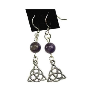 Amethyst Triquetra Earrings - Nakhti By Kali J.N.S