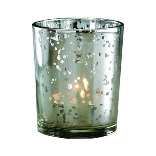 Silver Glass Votive Holder