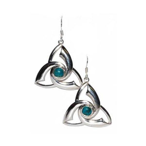 Triquetra Chrysocolla Earrings