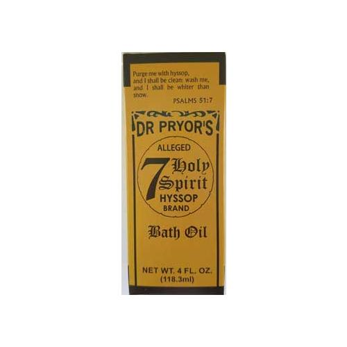 4oz Seven Holy Hyssop Bath Oil