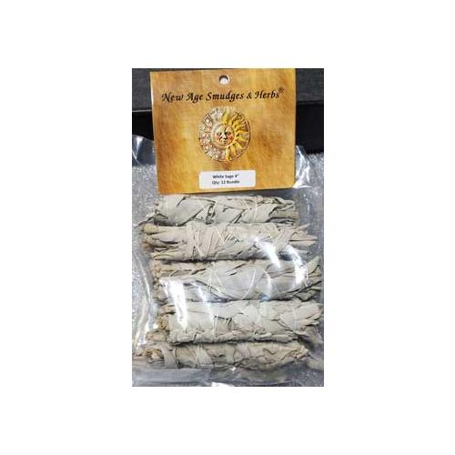 White Sage Smudge Stick 12pk 3 1-2""