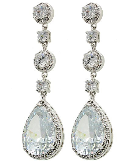 CZ Teardrop Earrings Set (Top Tier)