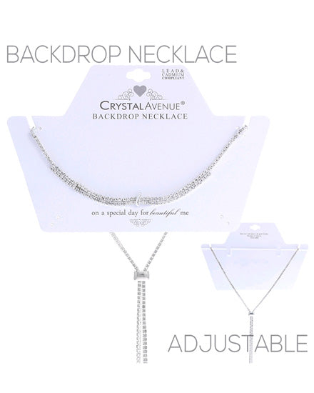Silver Tone Backdrop Necklace