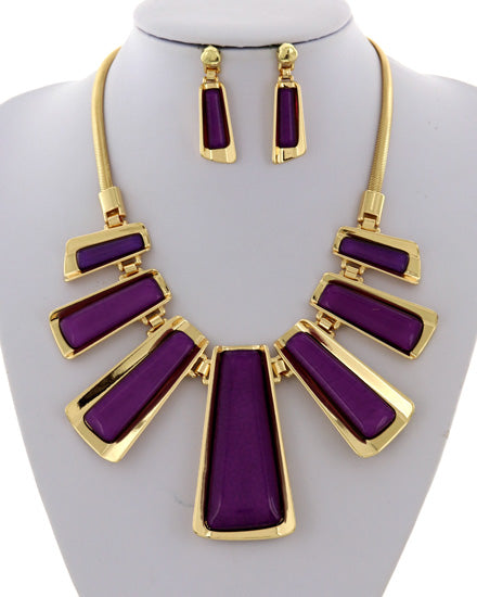 Gold Royalty Necklace Set