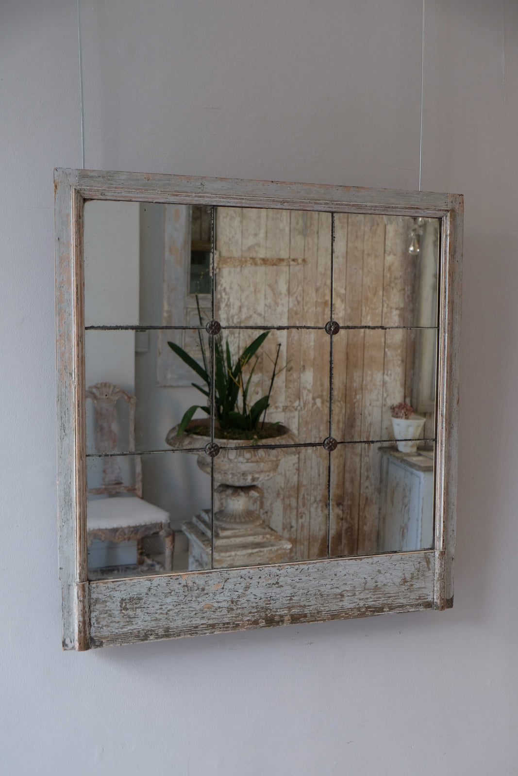 19th C. Italian Split Plate Mirror