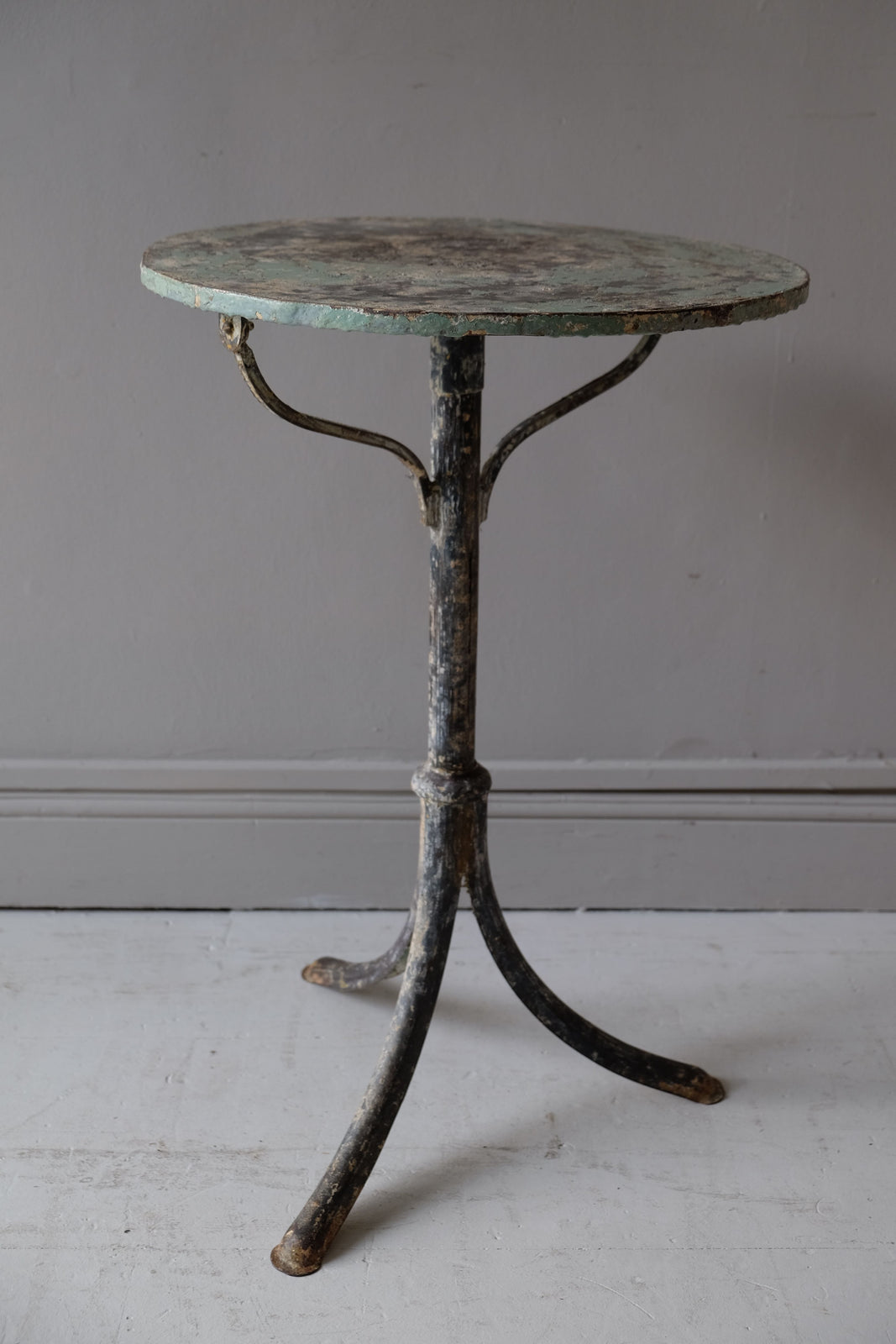 Small 19th C. French Metal Garden Table