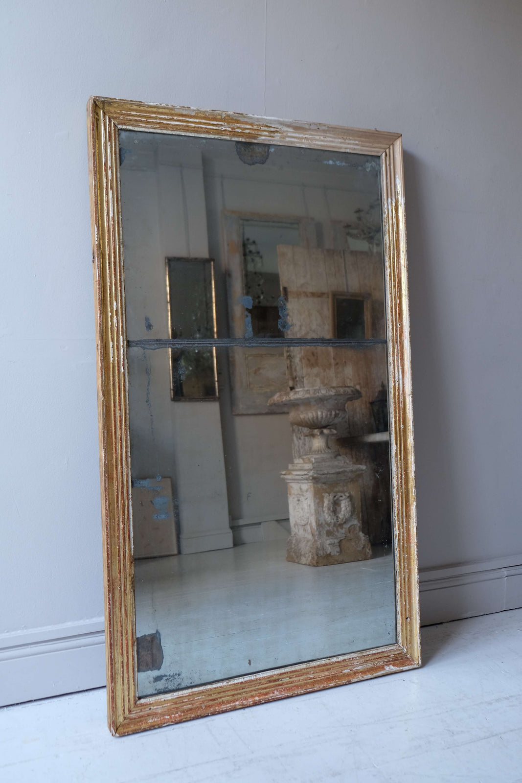 19th C. French Reeded Mirror