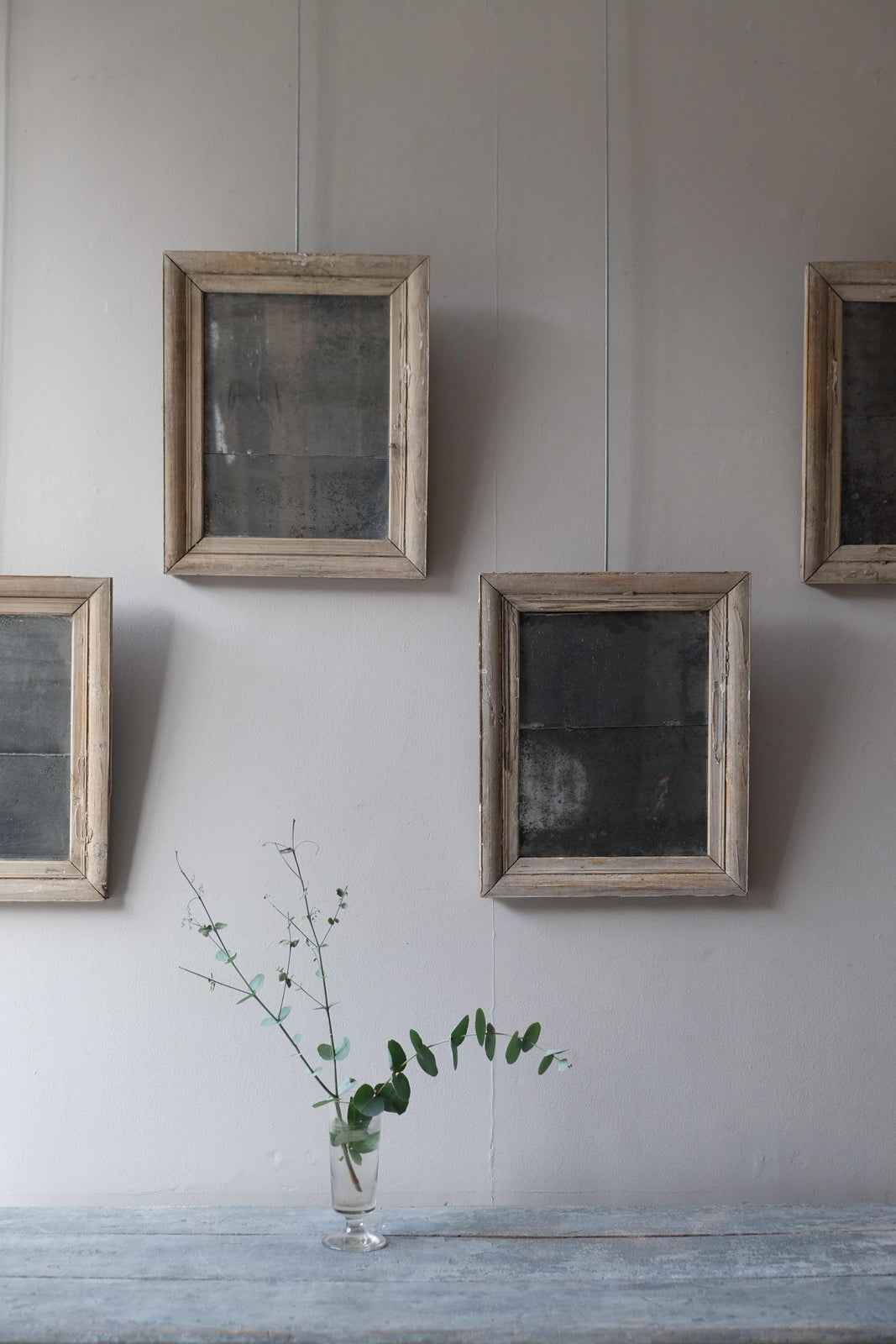 19th C. Wooden Frames with 19th C. Glass
