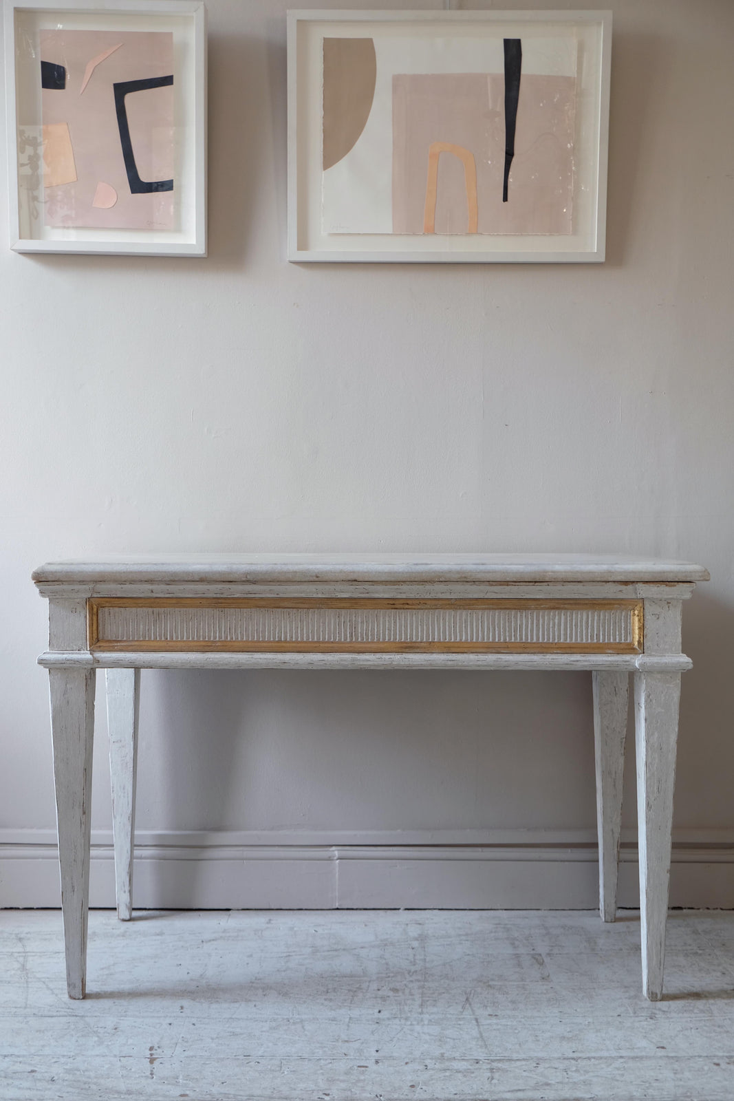 Late 18th C. French Console Table, Original Paint
