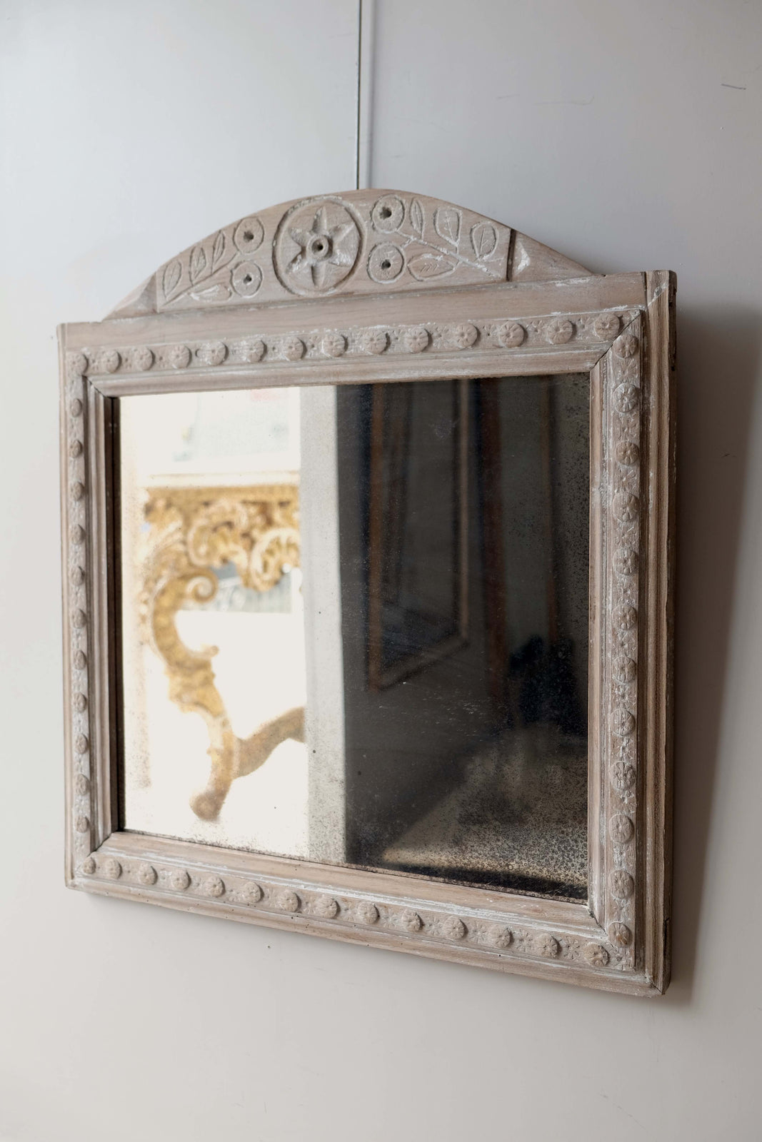19th C. French Wooden Frame Mirror