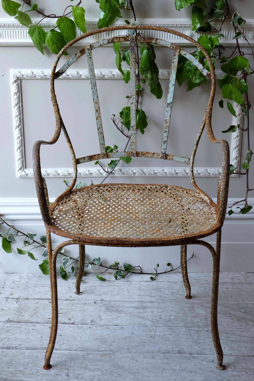 19th C. French Metal Garden Armchairs