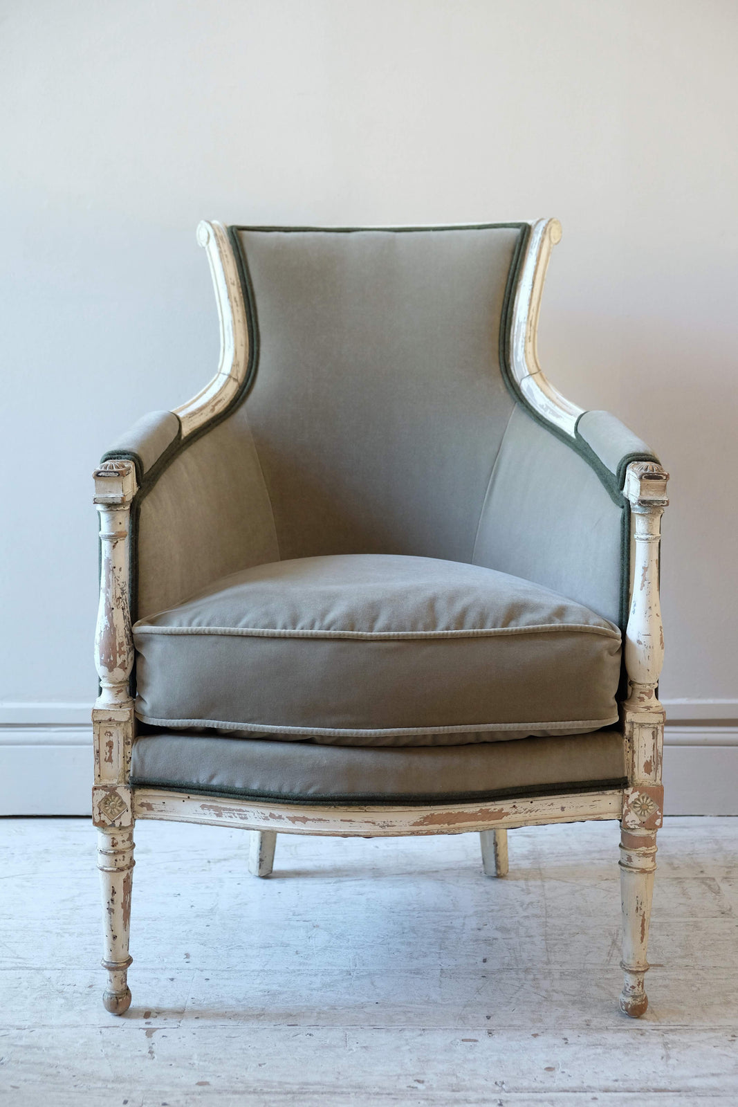 Pair of French Late 19th C. Armchairs, original paint
