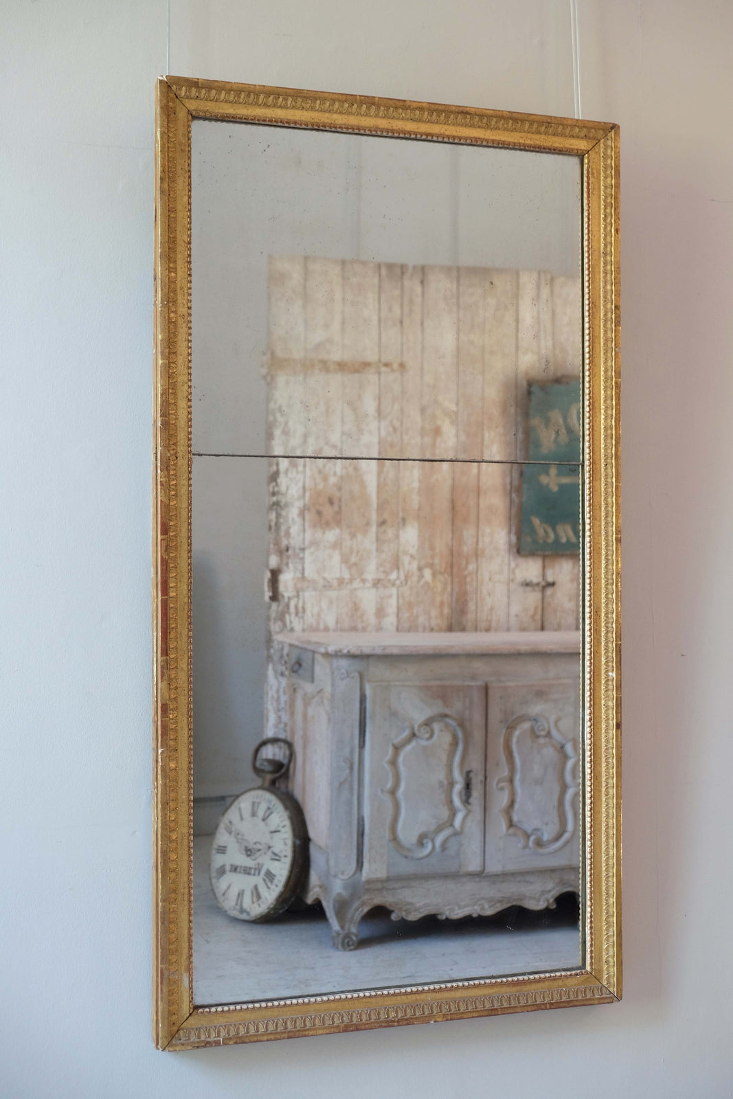 19th C. French Split Plate Mirror