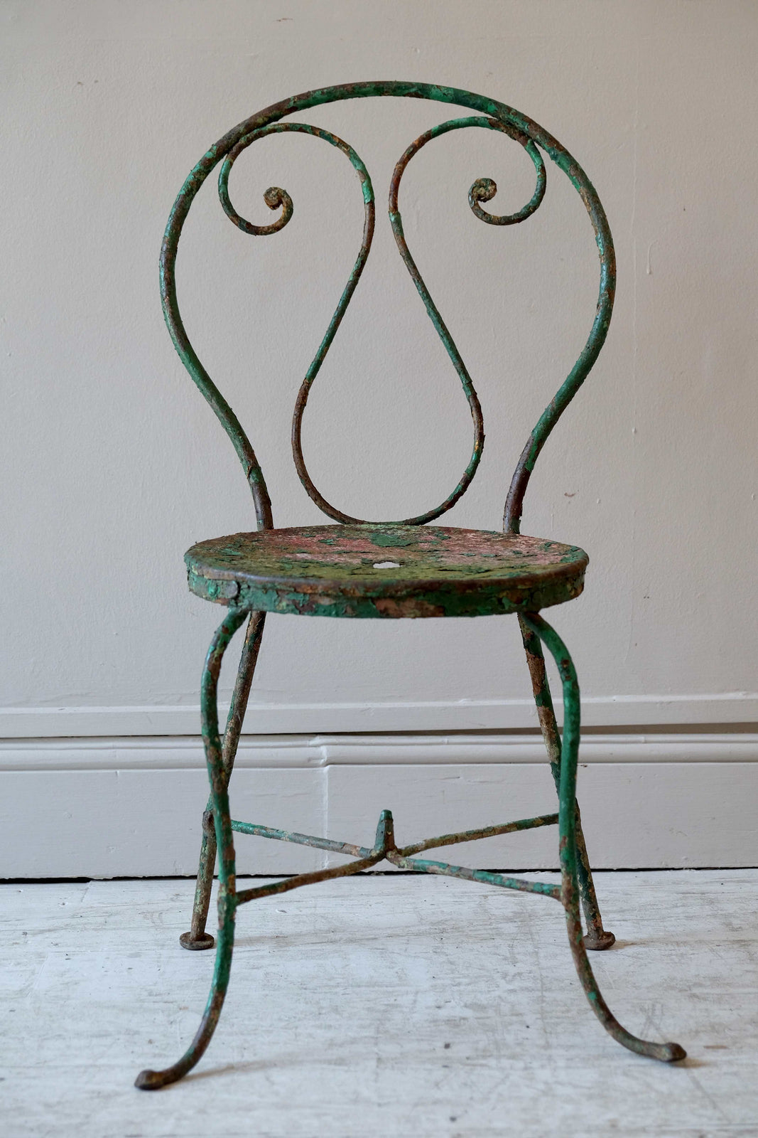 French Garden Chairs in Green