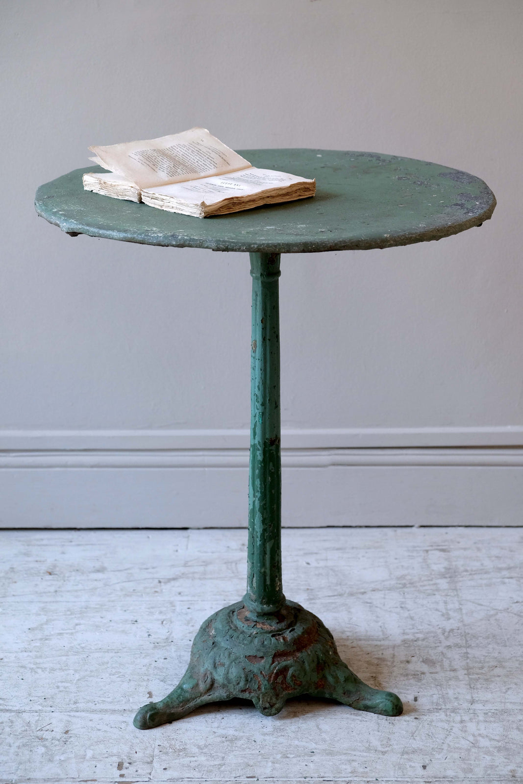 19th C. Green Bistro Table