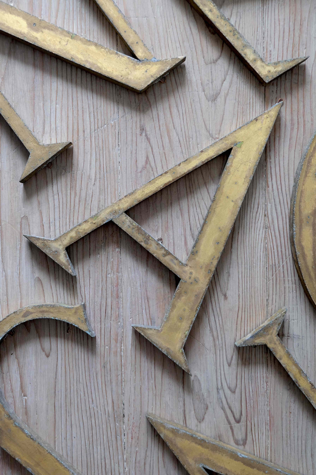 French Gilded Metal Letters