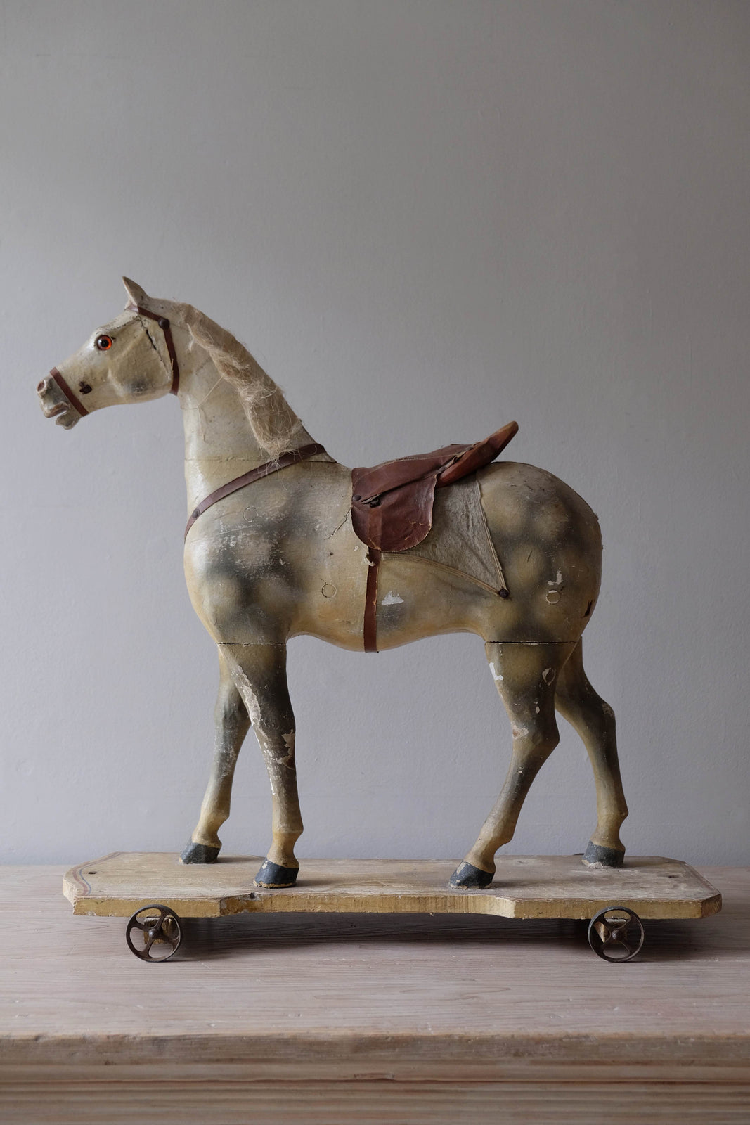 19th C. French Horse on Wheels