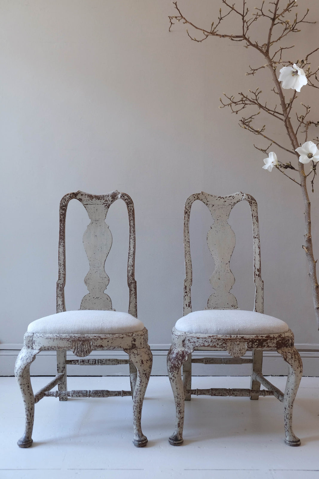 Pair of Early 19th C. Swedish Chairs