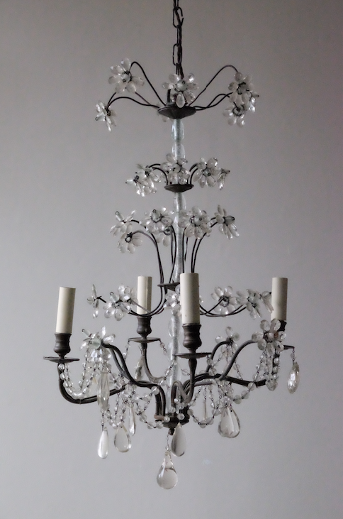 Small Bagues Style French Chandelier