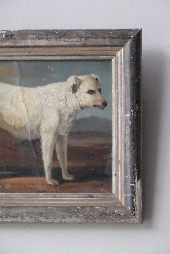 19th C. French Painting of a Dog