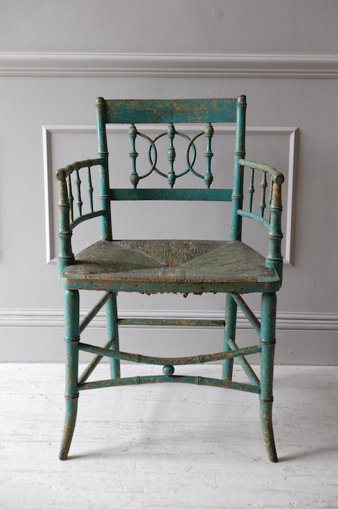 19th C. English Sussex Elbow Chair