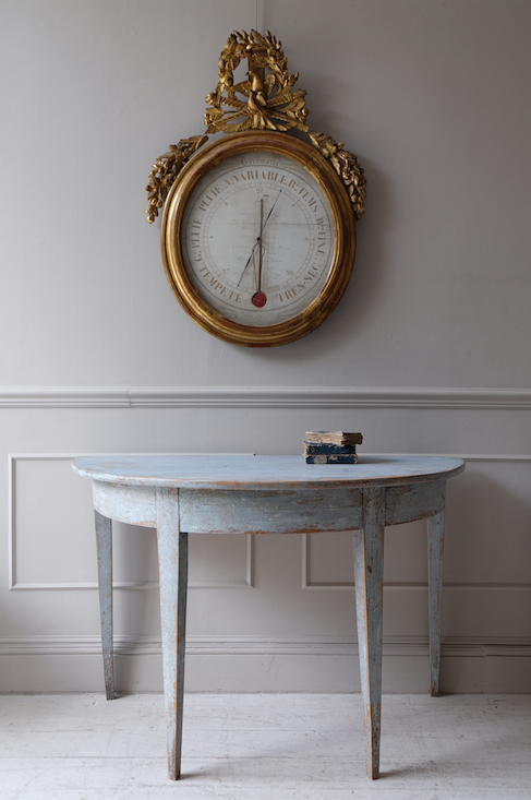 Pair of Swedish Demi Lune Console Tables