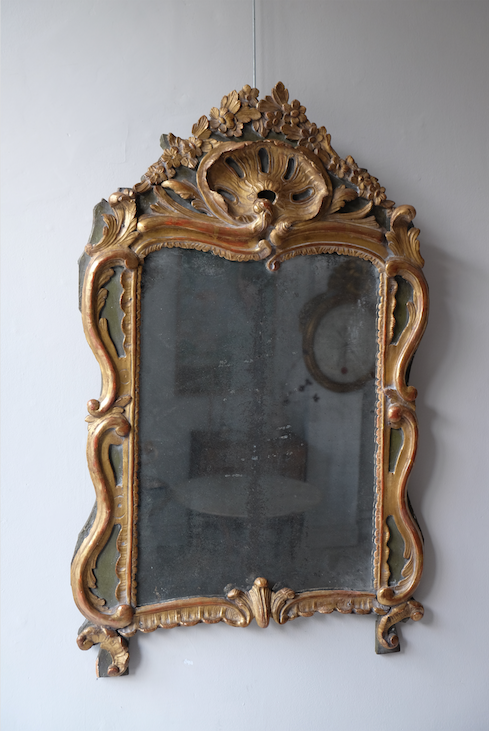 18th C. French Carved Gilt Mirror