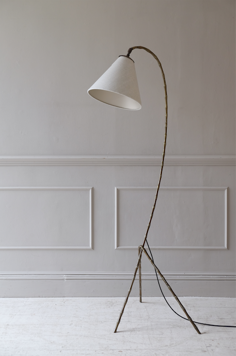 Mid Century French Brass Reading Lamp