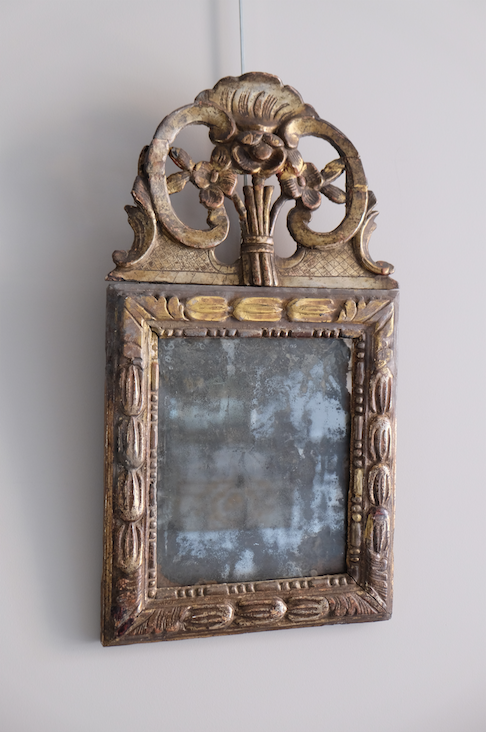 Late 18th C. French Carved Mirror