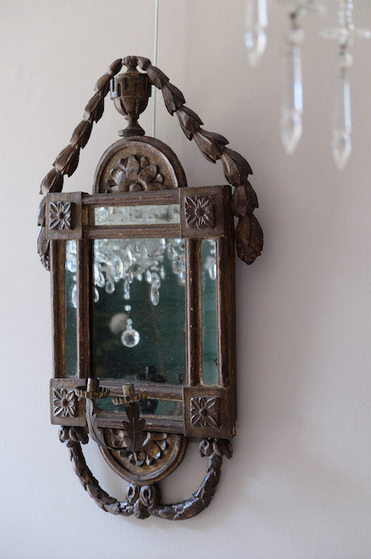 Pair of 18th C. Italian Carved Mirrors