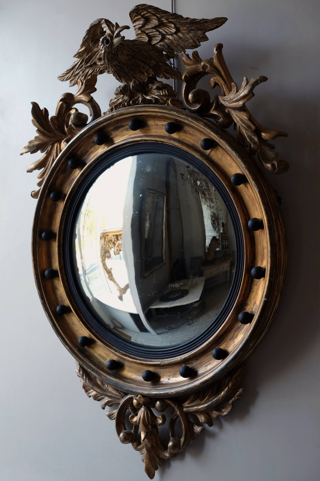 19th C. French Convex Mirror