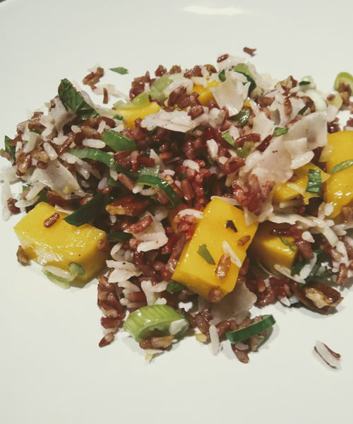 Mango and Coconut Rice Salad