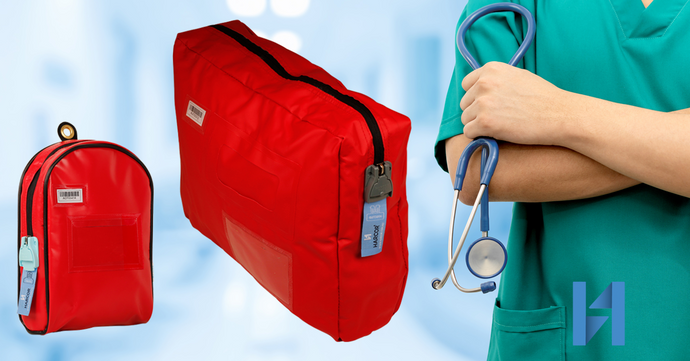 Hospitals are moving medicines using cash bags due to COVID-19