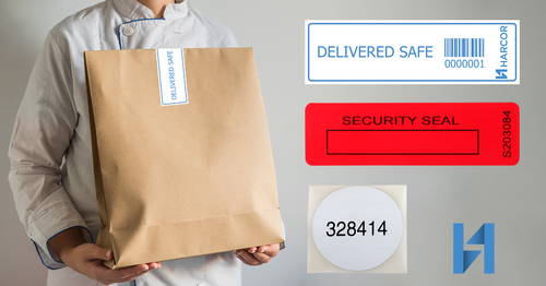 Security labels ensuring safe food delivery