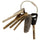 ProductVariantDrop Nylon Coated Cable Key Rings Clear (38 mm)