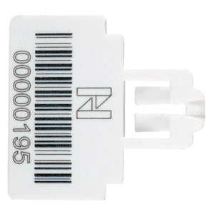Themis Security  Seal - White - Stock Numbering & Barcoding (1000 unit pack)