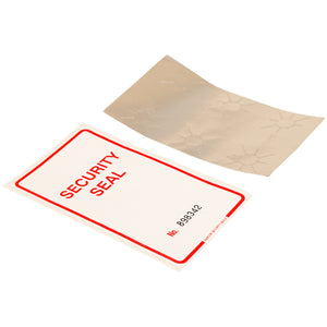 Self Destruct Label | Large | White | Pre-printed | Serial Numbered (500 label roll)